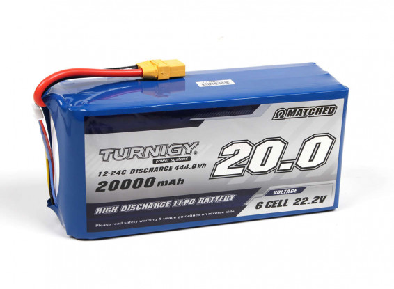 Turnigy-High-Capacity-20000mAh-6S-12C-Lipo-Pack-wXT90-Battery-9067000388-0