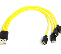 ZNTER Micro USB Quad Battery Charging Cable (1pc)