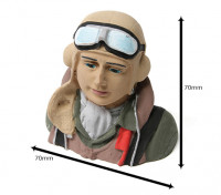 Seconda Guerra Mondiale Allied Pilot (H68 x W72 x D43mm)