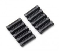 3x17mm alu. peso leggero basamento rotondo (nero)