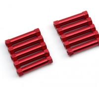 3x24mm alu. peso leggero basamento rotondo (rosso)