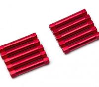 3x30mm alu. peso leggero basamento rotondo (rosso)