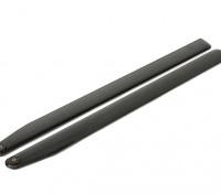 715 millimetri in fibra di carbonio TIG Z-tessuto principale Blades