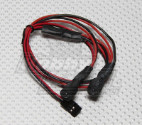 2 LED rosso lampeggiante