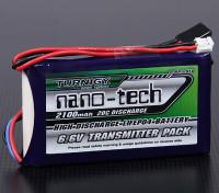 Turnigy nano-tech 2100mAh 2S1P 20C trasmettitore pacchetto LiFePo4 (Futaba T14SG & 4PK)