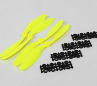 8045 SF puntelli 2pc CW 2 pc CCW rotazione (Flouro giallo)