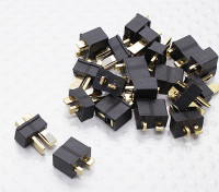 Mini T connettore nero (10 coppie)