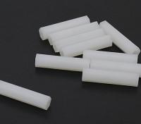 5,6 millimetri x 25mm M3 Nylon filettato Spacer (10pc