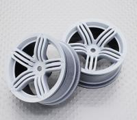 Scala 1:10 di alta qualità Touring / Drift Wheels RC 12 millimetri Hex (2pc) CR-RS6W