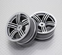 Scala 1:10 di alta qualità Touring / Drift Wheels RC 12 millimetri Hex (2pc) CR-RS6S