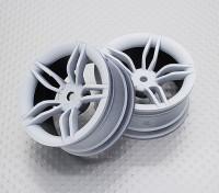 Scala 1:10 di alta qualità Touring / Drift Wheels RC 12 millimetri Hex (2pc) CR-FFW