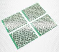 Fai da te 57x45mm PCB bordo di pane (4pcs / bag)