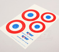 Scala nazionale Air Force Insignia Sticker Sheet - Francia (grande)