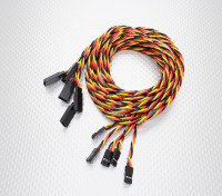 Ritorto 100 centimetri Servo prolunga (JR) 22 AWG (5pcs / set)