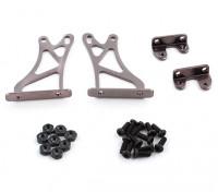 1/10 Alum. Regolabile Ala Supporto Frame - Alta (titanio)