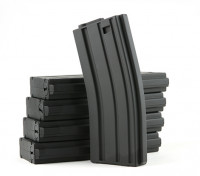 King Arms 120rounds riviste per la serie Marui M4 / M16 AEG (nero, 5pcs / box)