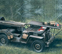 Italeri 1/35 Scala 4 x 4 Ambulance Kit Jeep plastica Modello