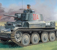 Italeri 1/35 Scala Pz.Kpfw. 38 (T) Ausf. Kit F plastica Modello