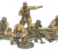 Italeri 1/35 Scala Cannone Da 47/32 Mod. 39 con equipaggio Kit plastica Modello