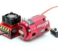 Trackstar ROAR approvato 1 / 10th categoria Stock Brushless ESC e motore Combo (17.5T)