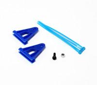 RJX rinforzo Tail Boom supporto per aste 6mm - Blu
