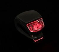 Silicone nero mini-lampada (LED rosso)
