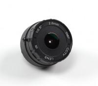 """2,8 millimetri IR Consiglio lente F2.0 CCD formato 1 / 2.5 """"156 ° Angolo w / Mount"""
