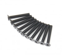 Metallo a testa piatta macchina Vite Esagonale M3x22-10pcs / set