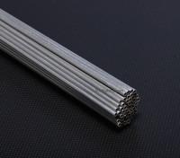 Alluminio Tubi D3x * 2x1000mm