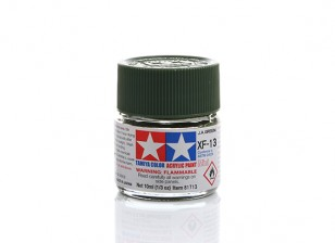 Tamiya XF-13 Flat J.A. Green Mini Acrylic Paint (10ml)