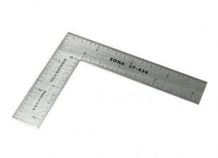 """Zona di precisione 3 """"x 4"""" in acciaio inox L quadrato righello"""