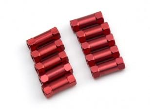 3x13mm alu. peso leggero basamento rotondo (rosso)
