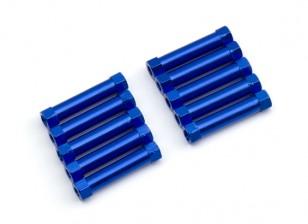 3x24mm alu. peso leggero supporto rotondo (blu)