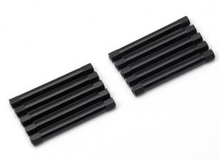3x45mm alu. peso leggero basamento rotondo (nero)