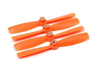 Diatone plastico di eliche di serraggio Bull Nose 5045 (CW / CCW) (arancione) (2 coppie)