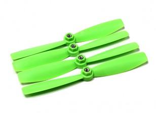 Diatone plastico di eliche di serraggio Bull Nose 6045 (CW / CCW) (verde) (2 coppie)