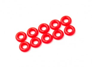 2 in 1 kit di O-ring (neon rosso) -10pcs / bag
