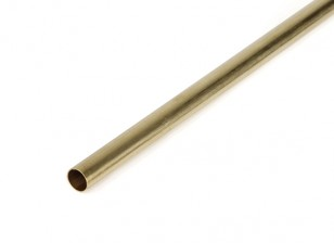 "K&S Precision Metals Brass Round Stock Tube 3/8"" OD x 0.014 x 36"" (Qty 1)"