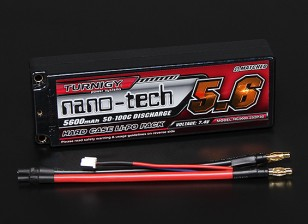 Turnigy nano-tech 5600mah 2S2P 50 ~ 100C Hardcase Lipo Pack (ROAR APPROVATO)