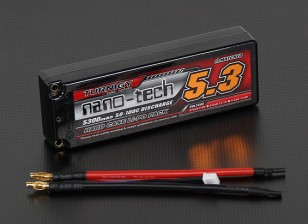 Turnigy nano-tech 5300mah 2S2P 50 ~ 100C Hardcase Lipo Confezione
