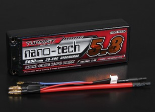 Turnigy nano-tech 5800mAh 2S2P 30 ~ 60C Hardcase Lipo Pack (ROAR APPROVATO)