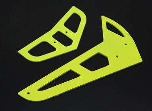 Neon Yellow vetroresina orizzontale / verticale Pinne Trex 450 V1 / V2 / Sport / PRO