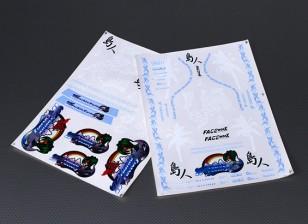 Auto Sticker Foglio Adesivo - Yashio 1/10 Scala