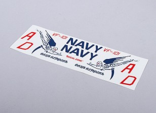 US Navy Grim Reapers per EDF Jet (Blu) - 105mmx70mm insegne principale