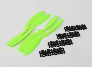 8045 SF puntelli 2pc CW 2 pc CCW rotazione (verde)