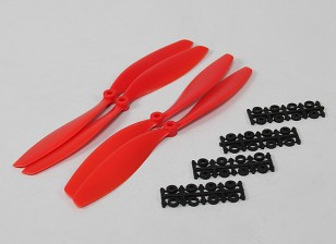 10x4.5 SF Props 2pc standard di rotazione / 2 pc RH Rotation (Red)