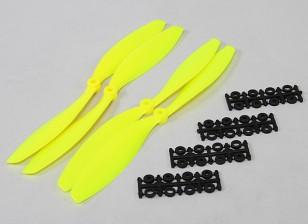 10x4.5 SF Props 2pc standard di rotazione / 2 pc RH Rotation (Flouro giallo)