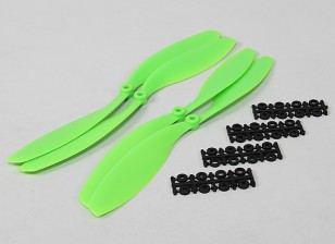 12x4.5 SF Props 2pc standard di rotazione / 2 pc RH Rotation (verde)