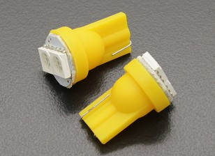 Luce del cereale LED 12V 0.4W (2 LED) - Giallo (2 pezzi)