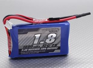 Turnigy 1800mAh 2S 12C Lipo ricevitore pack